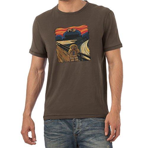 NERDO Gingerbread Scream - Herren T-Shirt, Größe XXL, Braun