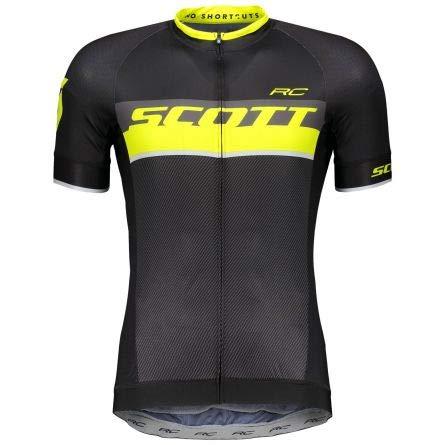 Scott RC Pro Fahrrad Trikot kurz schwarz/gelb 2018: Größe: L (50/52) -