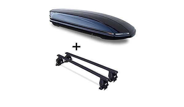 Dachbox Vdpmaa320 320ltr Abschließbar Schwarz Dachträger Menabo Tema Kompatibel Mit Hyundai Tucson Tl 5 Türer Ab 2015 Auto