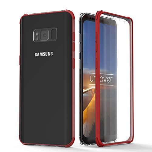 Urcover® 360 Grad rundum Schutzhülle kompatibel mit Samsung Galaxy S8 I berühmt aus Galileo I Quattro Edition I Rot