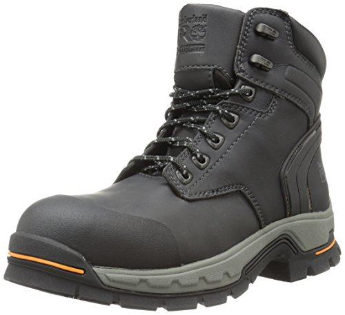 Timberland PRO Men's 6 Inch Stockdale Grip Max Alloy Toe Work and Hunt Boot, Black Microfiber, 10 W US Pro Cast 10