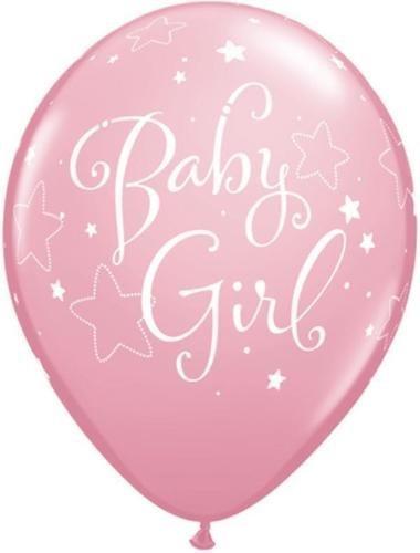 Neuf Bébé Fille étoiles Qualatex 11 Pouces Ballons En Latex (Rose, Pack De 12)