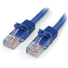 StarTech - Cable Ethernet  de 30 cm (Cat 5e, RJ45, Macho/Macho), color azul