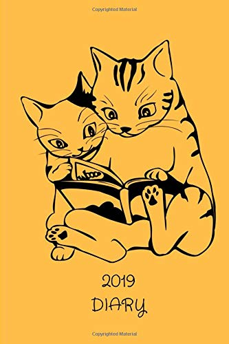 Pocket 2019 Cat Diary Manga: Mini Daily & Weekly Calendar With Password Log & Address Book; Purse Notebook With Inspirational Quotes; Small Little Monthly Goals Tracker With To Do List