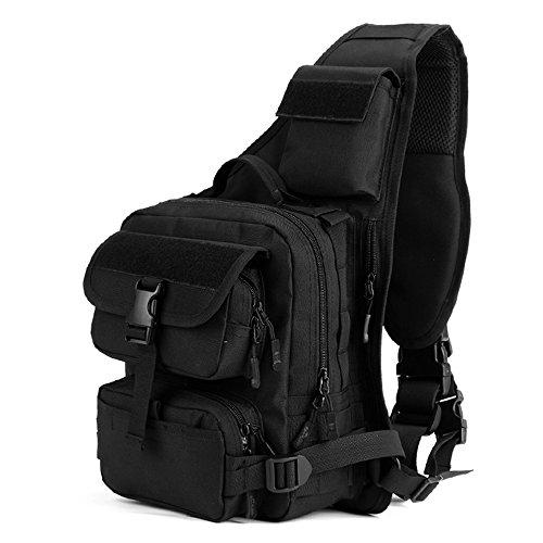 magcomsen Man Assault Rucksack Wandern Sling Pack Military Army Tactical Nylon Tasche Schwarz