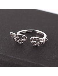 Axiba Uomini Anello Anelli della Signora Ali d'Angelo Anello e Anello di Apertura di Diamante-dallo a Qualcuno Che ami