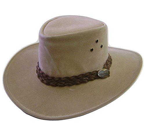 df73a9586a0b4 Modestone Unisex Jacaru Polysuede Soak in Water Keep Cool Cowboy Hat Beige