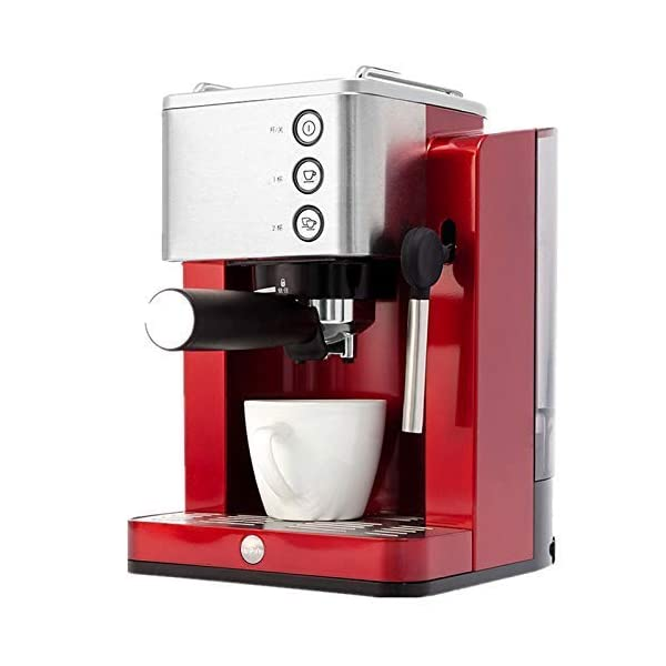 ALDXC11-TSK-1827RB,Rb Italian coffee machine home full semi-automatic steam type instant grinding coffee pot, Commercial Semi Automatic Espresso Coffee Machine Home Mocha Cappuccino Italian Coffee Maker 220V 850W Red 41RkffO9Z2L