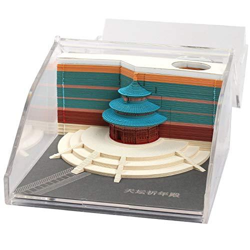 Himmelstempel-Anmerkungs-Buch 3D Dreidimensionales Kreatives Kann Briefpapier 2019 Zerreißen Kalender-Chinesisches Architekturmodell-Annehmlichkeits-Zeichen