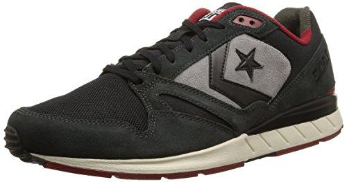 Converse, Wave Racer Ox Suede Sneaker,Unisex Adulto, Grigio (Black/Iron/Grey Dust), 43