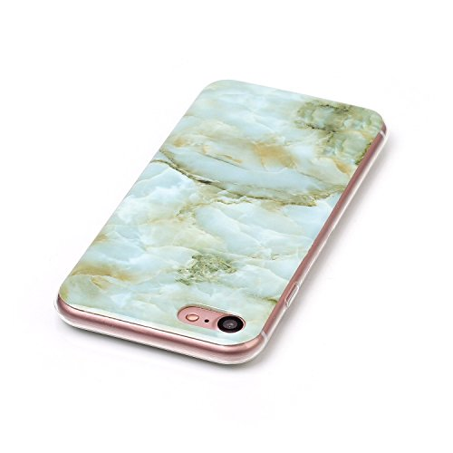 Apple IPhone 7 Fall Marmor Stein Muster Soft Case für Apple IPhone 7 IMD Hybrid Glossy TPU Soft Silicnone schützende Shell zurück Fall Deckung für Apple IPhone 7 ( Color : 1 , Size : IPhone 7 ) 3