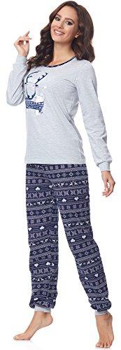 Merry Style Damen Schlafanzug 867 v2 Grau/Navy