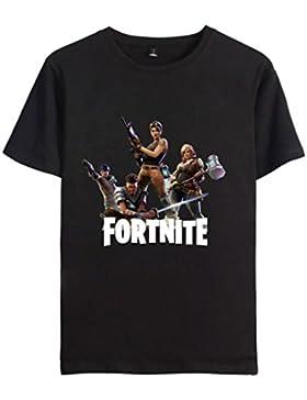 EMILYLE Unisex Fortnite Keep Calm Dab Llama Personajes De Fortnite Impreso Figura Camiseta Deportiva De Manga...