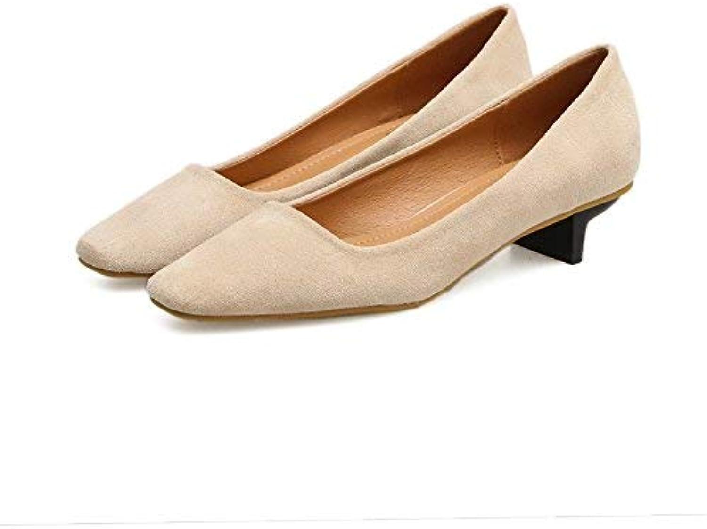 Décolleté in pelle Scarpette da donna scarpe scarpe scarpe col tacco alto in pelle scamosciata con tacco basso pendolari a punta... | The Queen Of Quality  a10abb