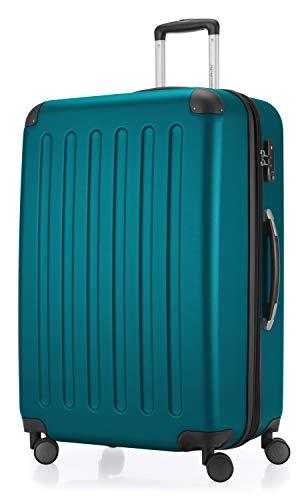HAUPTSTADTKOFFER HAUPTSTADTKOFFER - Spree - Hartschalenkoffer Rollkoffer, erweiterbarer Reisekoffer, 4 Rollen, TSA, 75 cm, 119 Liter, Aquagrün