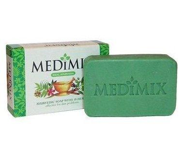 Hautpflege-kräuter-seifen (Medimix ayurvedische Seife mit 18Kräutern Pickel ACME Cure Haut Probleme 75gm)