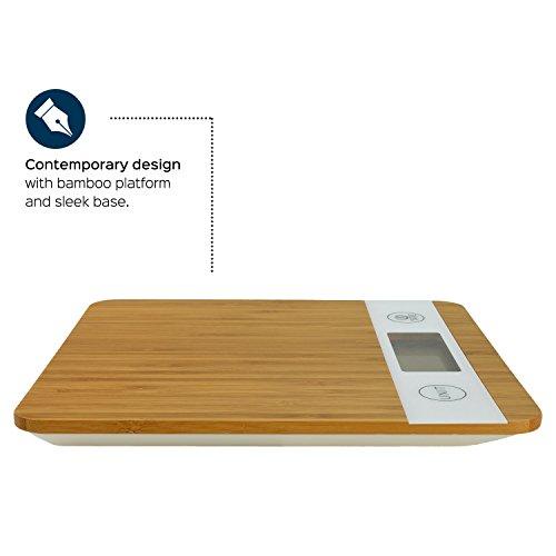 Digitale Smart Weigh Küchenwaage aus Bambus - 4