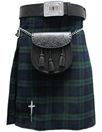 Tartanista - Kilt écossais Highland - tartan Black Watch - 4,6 m - 284 g