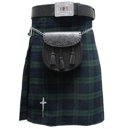 tartanista-kilt-scozzese-46m-280g-5-yard-10-oz-guardia-nera-uk38-96-cm