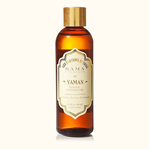 KAMA AYURVEDA YAMAN Aromatic massage oil REVIVE Geranium, Lemongrass & Rosemary in jojoba oil - 100 ml