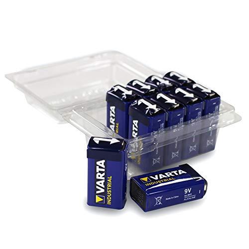 Varta Industrial Batterie 9V Block Alkaline Batterien 6LR61-10er-Box Made in Germany Alkaline-batterie-box