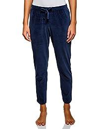 oodji Ultra Mujer Pantalones de Casa con Cinturón Elástico y Cordones