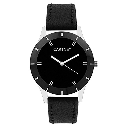 CARTNEY Analog Black Dial Leather Strap Women & Girl\'s Watch - (CTY65LDS)