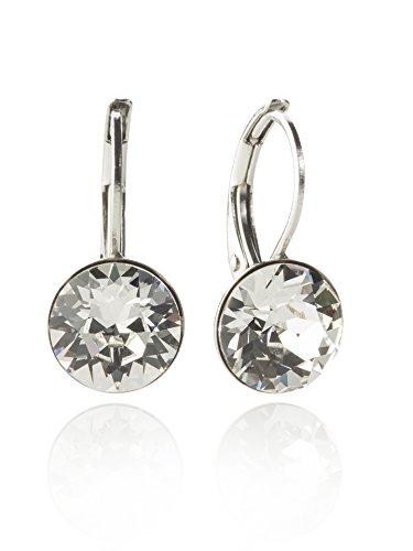 Orecchini con SWAROVSKI ELEMENTS colore argento-Eleganti orecchini in taglio brillante disponibile in molti colori cristallo Taglia unica