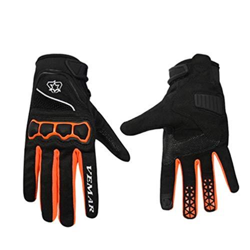 Guanti moto full finger, unisex con fibbia magica antiscivolo Guanti ciclismo/moto, fuoristrada guanti da cross X