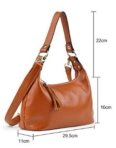 MeiliYH Borsa in pelle Handbag Borsa Diagonale Simple Soft Large Capacity rosso_vino