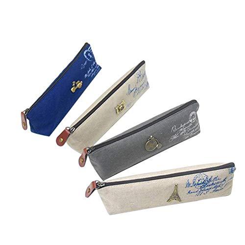 e Vintage Muster Federmäppchen Große Kapazität Make-Up Tasche Kosmetische Federmäppchen Schreibwaren Aufbewahrungstasche Tasche Hohe Qualität ()