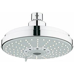 Grohe Cosmopolitan – Conjunto de ducha efecto lluvia, 4 chorros, con ecojoy, color cromo, 160mm de diámetro (Ref. 27135000)