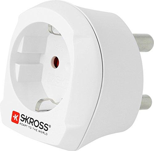 SKROSS 1.500201 Country Adapter Europe to South Africa: Reiseadapter für Reisen in Länder, die den südafrikanischen Standard verwenden - Pol-typ Standard Pol