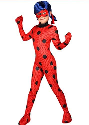 Giocoplasr natale s.p.a. costume carnevale lady bug miraulous coccinella per bambini, da 3 ai 9 anni taglie selezionabili (7-9 anni)