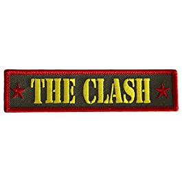 THE CLASH Army Logo, Officially Licensed Original Artwork, High Quality Iron-On/Sew-On, 1.3″ x 5″ Embroidered PATCH toppa