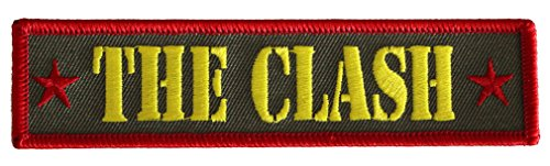 """THE CLASH Army Logo, Officially Licensed Original Artwork, High Quality Iron-On / Sew-On, 1.3"""" x 5"""" Embroidered PATCH toppa"""