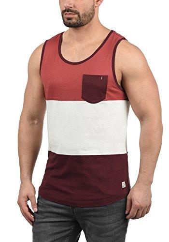 Blend Neo Herren Tank Top mit Rundhalsausschnitt und Brusttasche Regular Fit, Größe:XXL, Farbe:Wine Red (73812)