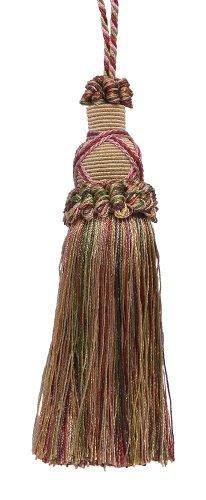 Decorativa 5,5Cm clave borla, luz color dorado, rojo cereza y luz verde oliva estilo Imperial II Collection # Color KTIC: BERRY PATCH–4260
