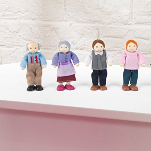 KidKraft Doll Family of 7 Caucasian, Multi Color