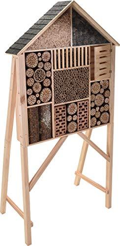 made2trade Robustes Insektenhotel XXL aus Kiefernholz - 182cm