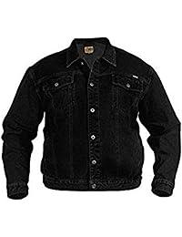 Mens Denim Jacket Big Kingsize Denims Jackets Small To 6XL (X-Large, Black)
