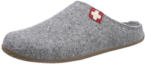Living Kitzbühel - Zapatilla De Cruz Suiza Con La Plantilla, Unisex Pantofole - Adulto Grigio (grigio (610 Grigio))