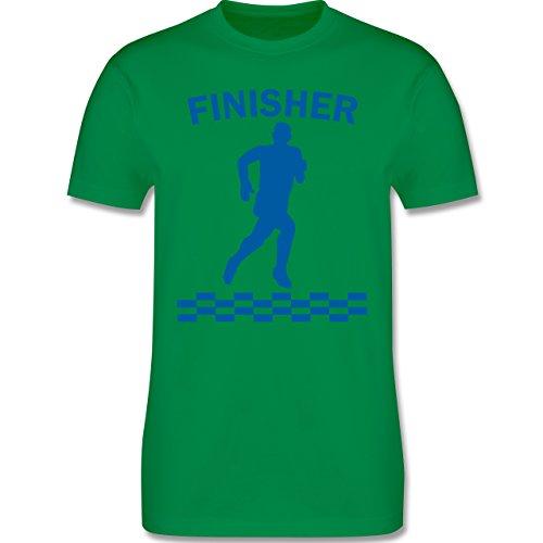 Laufsport - Finisher - Herren Premium T-Shirt Grün