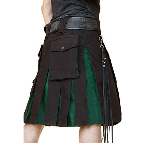 Herren Gothic Hosen Steampunk Retro Gerade Hose Lose Gefaltet Rock Schottland Kurz Rock Renaissance Victoria Kleidung Cosplay Bühne - Schottland Kostüm