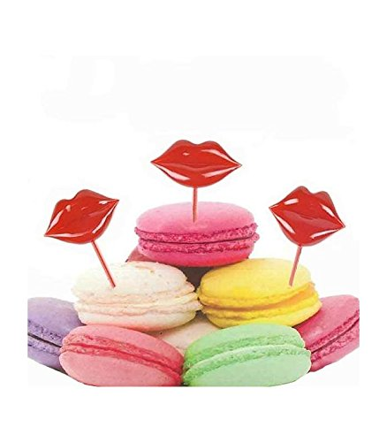 Bitten 13-1257 Pics apéritif Bouches lèvres Lipstick Set de 12 assortis Rouge Plastique