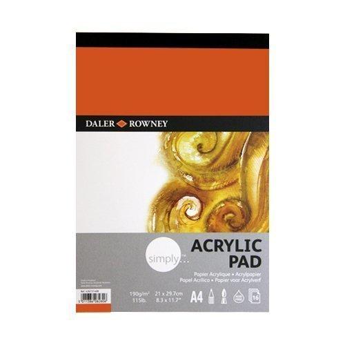 Daler Rowney Einfach 115lb Acrlic Pad A4