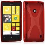 Nokia Lumia 520 / 521 Silikonhülle in ROT von Cadorabo - X-Line Design TPU Schutzhülle für Nokia Lumia 520 / 521 – Handyhülle Bumper Case Backcover in INFERNO ROT