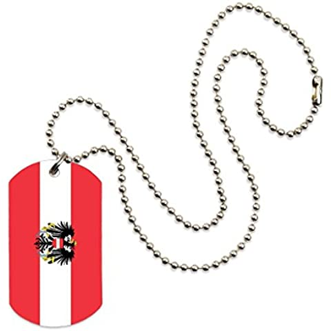 Austria Flag Color Dog tag Necklace Pendant 24