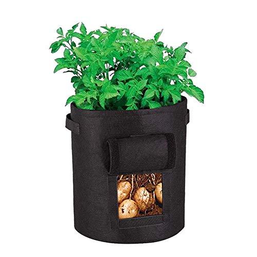 REDAPP 30 x 35 cm Vliestuch Topfpflanze Beutel Behälter Tomaten Kartoffeln Wachsen Tasche Hängen Gartenwerkzeug Schwarz -