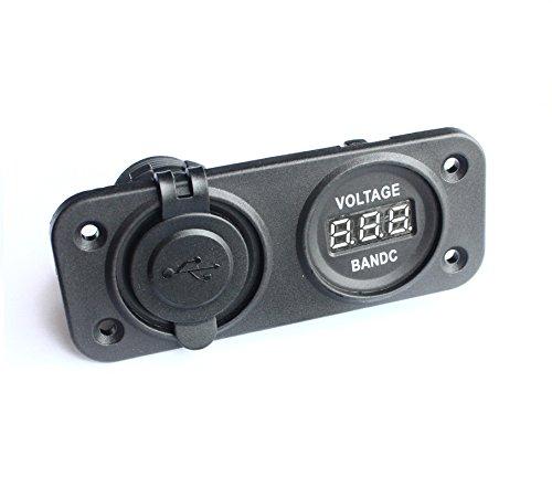 bandc Marine Grade auto camper doppia porta USB Presa di corrente e caricabatteria voltmetro Panel - Pannelli Porta Per Auto